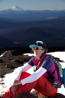 Sarah on Mt. Hood.