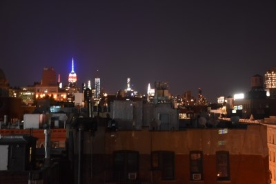 Our apartment with a view - the Empire State Building.