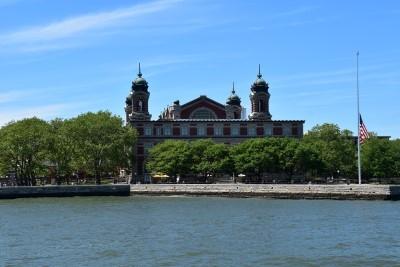 Goodbye, Ellis Island, as we chug back to Battery Park (photo by David).