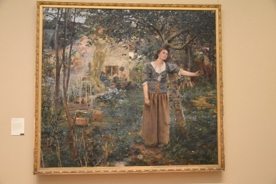 One of my favorite paintings from my college art history class: Joan of Arc (oil on canvas), 1879, by Jules Bastien-Lepage (photo by David).