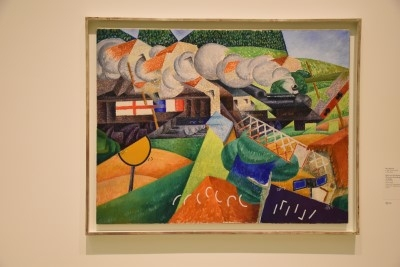 Red Cross Train Passing a Village (oil on canvas), 1915, by Gino Severini (photo by David).