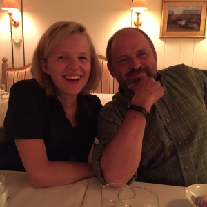 Jack and his talented daughter Genny, actress, playwright, singer, musician, songwriter. We know where she got her artistic talent! Dad is a wonderful writer whose prose is beautiful and precise and human insights are startling and real.