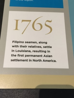Second reference to Filipinos in America (photo by me)!