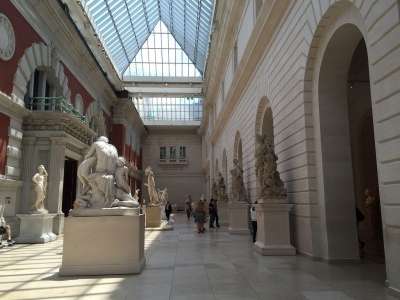 Hall of statues. The museum wasn't too crowded, which was nice (photo by me).