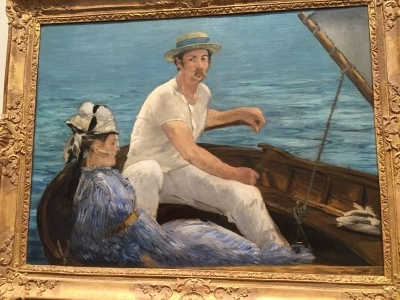 Boating (oil on canvas), 1874, by Edouard Manet.