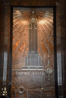 Restored art-deco interior of the Empire State Building (photo by David).