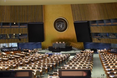 The General Assembly Hall, where many important sessions are held (photo by David).