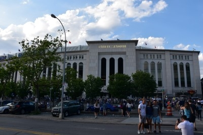 While Jacob, David, and I headed to Yankee Stadium (photo by David).