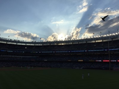Nice sunset over Yankee Stadium.