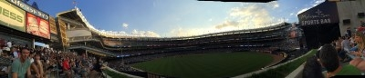My panoramic view of Yankee Stadium from right-center field.