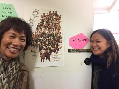 """Marissa and I enter the """"Catacombs"""" (photo courtesy of Maria Batayola)."""