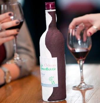 Primeira fotogarfia publicada no artigo A primeira garrafa de vinho feita de PAPEL (?) é lançada na Inglaterra!