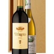 The Fine Wine Two Bottle Wine Gift in Wood 2 x 75cl Bottles