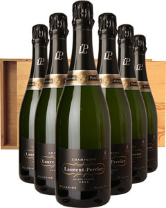 Laurent-Perrier Vintage Six Bottle Champagne Gift in Wood 6 x 75cl Bottles