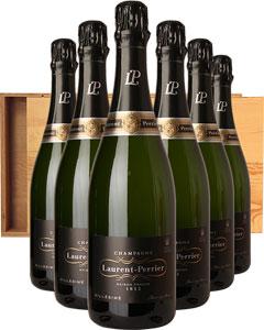Laurent-Perrier Vintage Six Bottle Champagne Gift in Wood 6 x 75cl Bottles