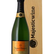 Veuve Clicquot Vintage Single Single Bottle Champagne Gift in Wood