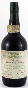 1914 Berisford Rare Amontillado Solera Sherry 1914