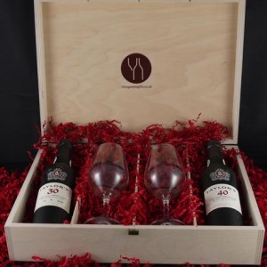1947 Taylor Fladgate 70 years of Port (35cl) with two Taylors Port glasses.