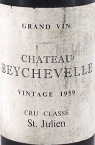 1959 Chateau Beychevelle 1959 St Julien Grand Cru Classe (1/2 bottle)
