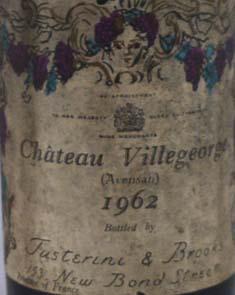 1959 Chateau Villegeorge 1959 Bordeaux