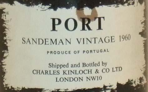 1960 Sandeman Vintage Port 1960