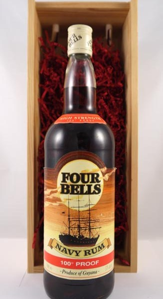 1970's Four Bells Navy Rum High Strength 100% Proof 100cls