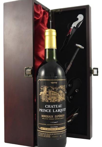 1978 Chateau Prince Larquey 1978 Bordeaux Superieur