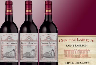 Château Laroque 2006/2009/2010 Wooden Box