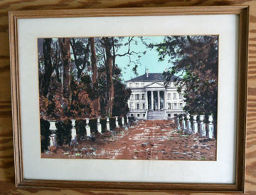 Chateau Margaux Charles Mozley lithograph FRAMED