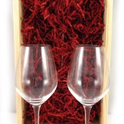 Two Dom Perignon Speigelau Crystal Champagne Flutes in Luxury gift box