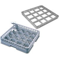 16 Compartment Glass Rack with 3 Extenders