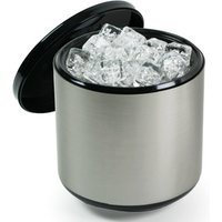 3.4 Litre Plastic Ice Bucket Brushed Aluminium Effect