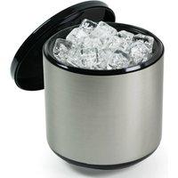 3.4 Litre Plastic Ice Bucket Brushed Aluminium Effect