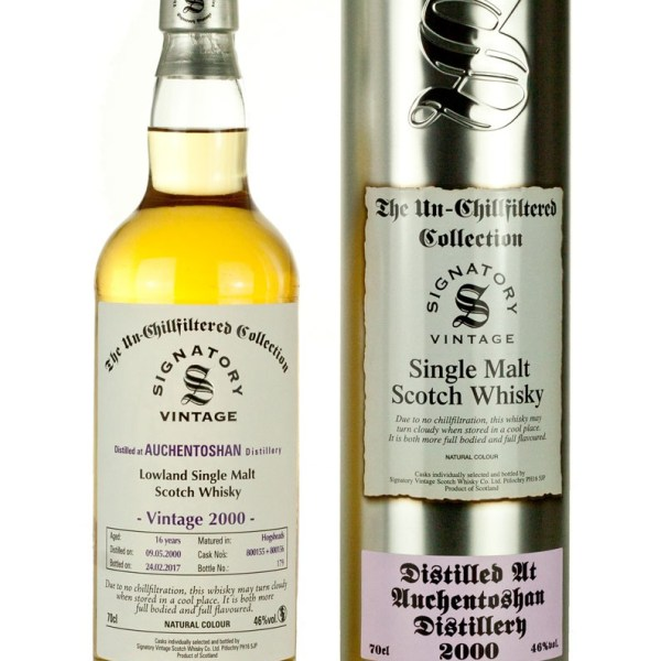 Auchentoshan 16 Year Old 2000 Signatory Un-Chillfiltered