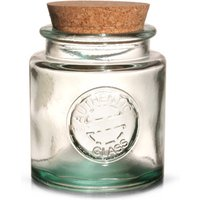 Authentic Recycled Glass Storage Jar with Cork Lid 250ml (Case of 6)