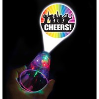 'Cheers' Flashing LED Projector Glass 17.5oz / 500ml (Single)