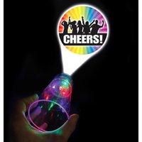 'Cheers' Flashing LED Projector Glass 17.5oz / 500ml (Single)