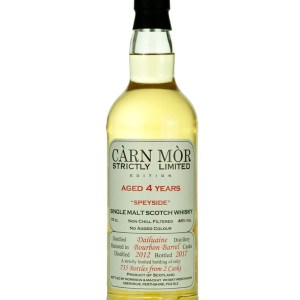 Dailuaine 4 Year Old 2012 Carn Mor Strictly Limited
