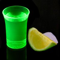Econ Neon Green Polystyrene Shot Glasses CE 1.25oz / 35ml (Case of 100)