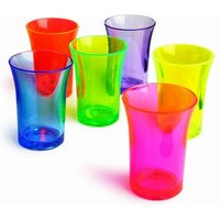 Econ Neon Polystyrene Shot Glasses CE 1.25oz / 35ml (Set of 6)