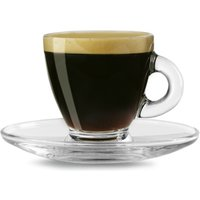 Entertain Espresso Cups & Saucers 2.8oz / 80ml (Pack of 2)