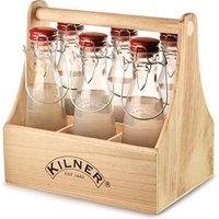 Kilner 7 Piece Vintage Clip Top Bottle Caddy Set