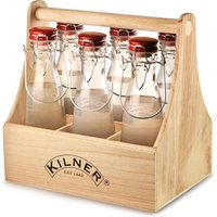 Kilner 7 Piece Vintage Clip Top Bottle Caddy Set