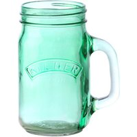 Kilner Green Handled Drinking Jar 14oz / 400ml (Single)