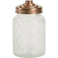 Lattice Glass Jar with Copper Finish Lid 950ml (Single)