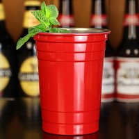 Stainless Steel Red American Party Cups 16oz / 455ml (Case of 24)