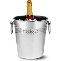 Stainless Steel Round Wine & Champagne Bucket with Decorative Band (Case of 8)