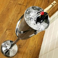 Stainless Steel Tall Wine & Champagne Bucket on Stand