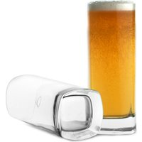 Strauss Square Base Beer Glasses 13.4oz / 380ml (Pack of 6)