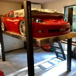 Boy S Bunkbed Is Transformed Into Garage Lift Complete With Corvette Z06